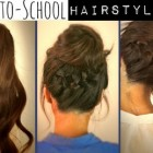 Hairstyles updos easy for school