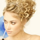 Up hairstyles for curly hair