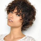 Curly short hairstyles 2019