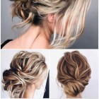 Bridesmaid updos 2020