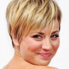 Short haircuts for round faces 2021