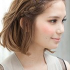 A hairstyle for short hair