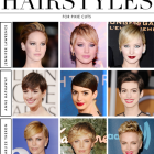 Different styles of pixie cuts