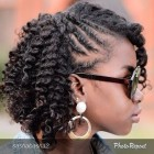 Styles for braided hair