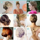 Easy hair updos to do yourself