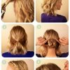 Easy upstyles for medium hair