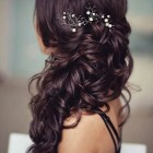Hair to the side for prom