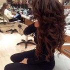 Long curls for prom