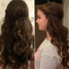 Loose curls prom