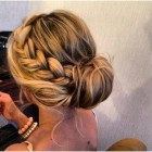 Low updos for long hair