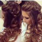 Prom hair for long thick hair
