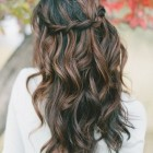 Prom hairstyles for long hair down curly