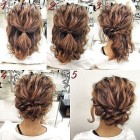 Quick updos for short hair