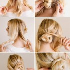 Simple up hairdos for medium hair