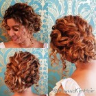 Updos for curly hair for prom