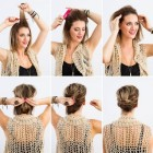 Easy and fast hairstyles for short hair