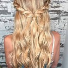 A simple hairstyle for long hair