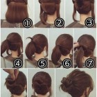 Easy buns for short hair