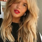 Hairstyles for long hair with fringe 2019