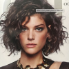 Short curly hair with bangs 2019