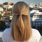 Simple quick hairstyles for long straight hair