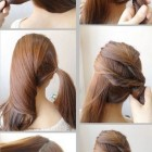 Simple upstyles for long hair