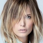 Hairstyles with long bangs 2020