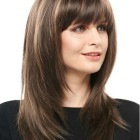 Long hairstyles with a fringe 2020