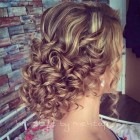 Curly buns for prom