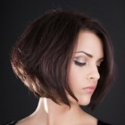 Hairstyles for short hair and round face