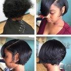 Medium short hairstyles for black hair