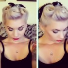 Pin up updo hairstyles