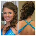Prom hair front and back