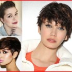 Round face shape short hair