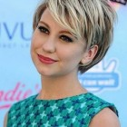 Short cut hair for round face