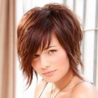 Short hairstyle for round face girl