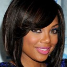 Short hairstyles for black women with color