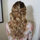Simple curly prom hairstyles
