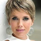A short hairstyle