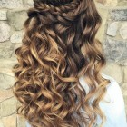 Curly down hairstyles for long hair