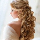 Curly hairstyles for long hair half up