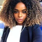 Curly natural looking weave