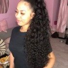 Curly weave long
