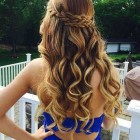 Cute half up half down hairstyles for prom