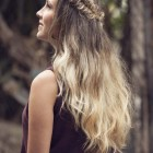 Down and curly hairstyles