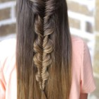 Easy half up half down hairstyles for straight hair