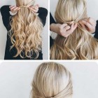 Easy half updos for long hair