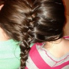 Hair braided together