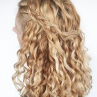 Hairstyle curls half up