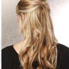 Half back hairstyles for long hair